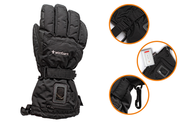 Durable Heated Skiing Gloves